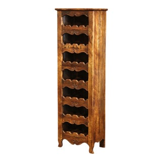 Louis XV Carved 24 Wine Bottle Holder Cabinet From Bordeaux