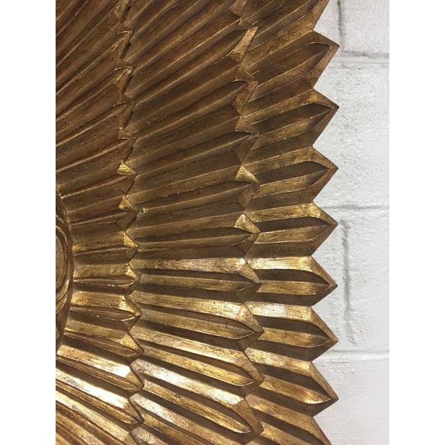 Italian Rectangular Giltwood Sunburst Mirror For Sale In Philadelphia - Image 6 of 10