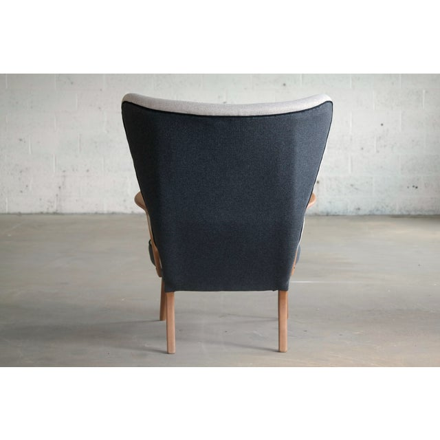 Danish 1950's Lounge Chair Model Pragh With Ottoman by Madsen and Schubell For Sale - Image 10 of 12