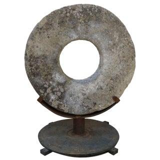 Stone Grinding Wheel Garden Art For Sale