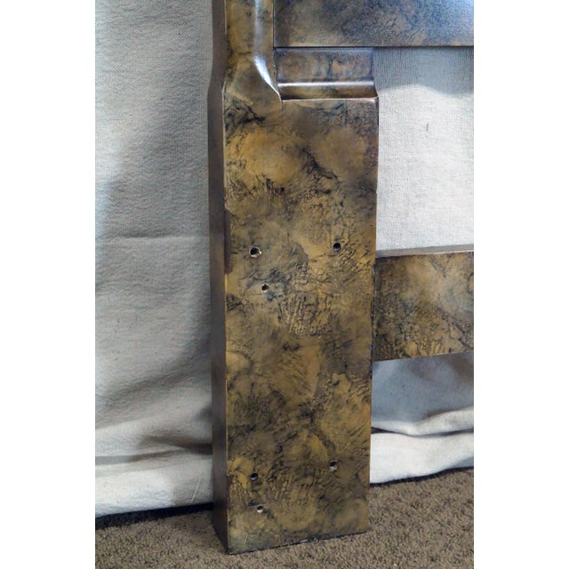 Henredon Mid Century Faux Tortoise Shell Painted King Size Poster Headboard - Image 10 of 10