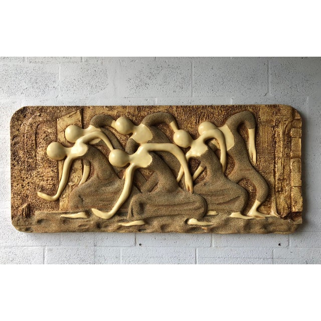 Large Vintage Mid Century Modern Brutalist Finesse Originals Fiberglass Wall Hanging Sculpture For Sale - Image 13 of 13