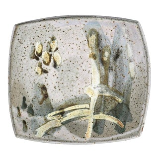 Abstract Joel Edwards Shallow Pottery Bowl For Sale