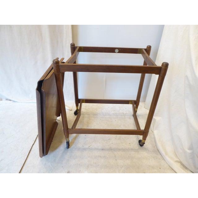 Vintage Modern John Stuart Hardwood Side Table For Sale - Image 4 of 8