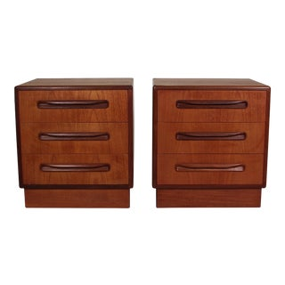 Mid Century Teak Night Stands by G Plan For Sale