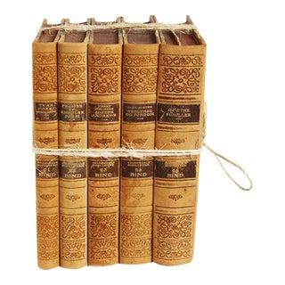 Vintage Leather Bound Book Bundle For Sale