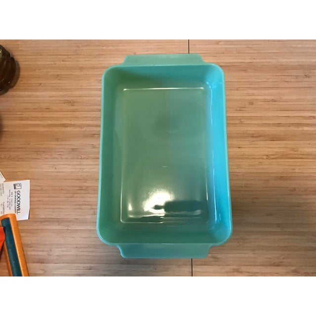 Early American Anchor Hocking Fire King Jadeite Casserole Dish For Sale - Image 3 of 7