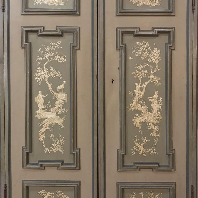 Mid 19th Century Early 19th Century Italian Neoclassical Painted Armoire For Sale - Image 5 of 13