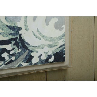 """""""Waves"""" Silver Leafed Print in Acrylic Box Preview"""