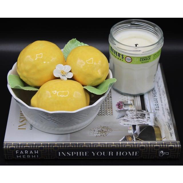 Italian Ceramic Round Lemon Basket For Sale - Image 9 of 11