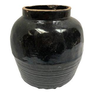 19th Century Chinese Black Glazed Shanxi Pot For Sale
