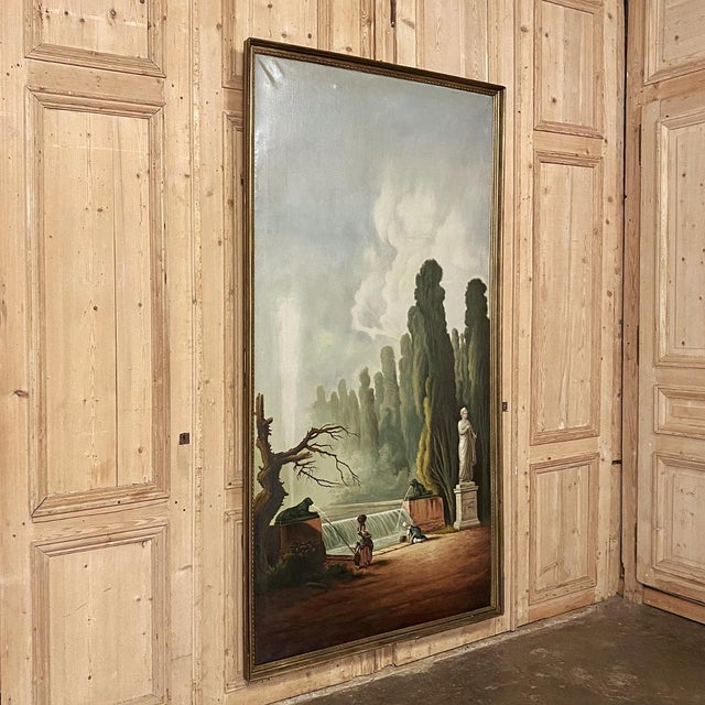 Realism Grand Framed Oil Painting on Canvas by E. Carliez After H. Robert For Sale - Image 3 of 12