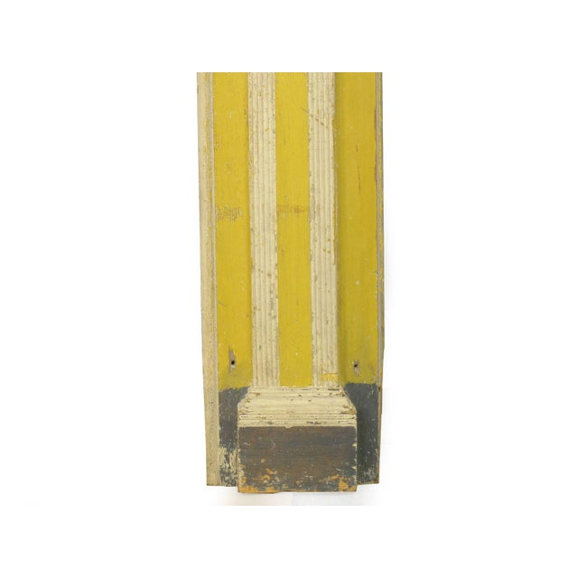 Neoclassical Federal Antique Fireplace Surround Mantel in Early Yellow & White Paint For Sale - Image 6 of 13