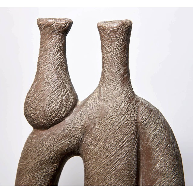 """1950s """"Woman With Vase"""" Ceramic Sculpture by Salvatore Fiume For Sale - Image 5 of 9"""