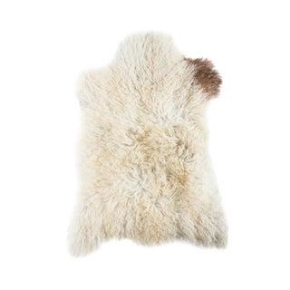 """Contemporary Long Wool Sheepskin Pelt, Handmade Rug - 2'0""""x 2'10"""""""