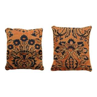 Vintage Lilihan Carpet Pillows - a Pair For Sale