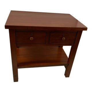 Pottery Barn Arts and Crafts Side Table or Nightstand For Sale