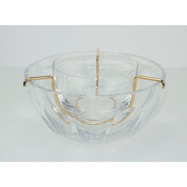 Baccarat Crystal Caviar Serving Bowls Set With Box For Sale - Image 13 of 13