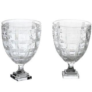 1930s Art Deco Circle Hurricane Glasses - a Pair For Sale
