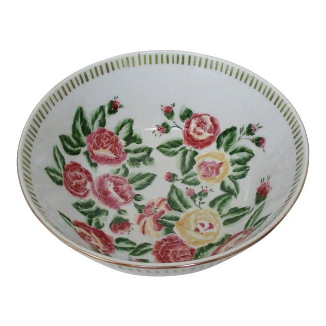 Chinese Porcelain Serving Bowl For Sale