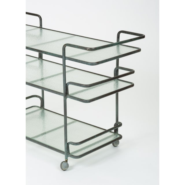 Richard Frinier Bronze Bar Cart for Brown Jordan For Sale - Image 11 of 13