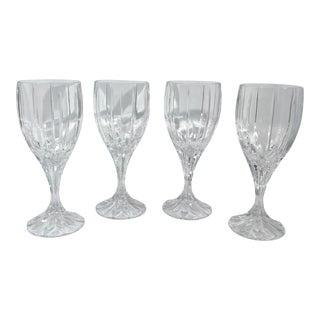 Mikasa Berkley Vintage Cut Crystal Transparent Wine Glasses - Set of 4 For Sale