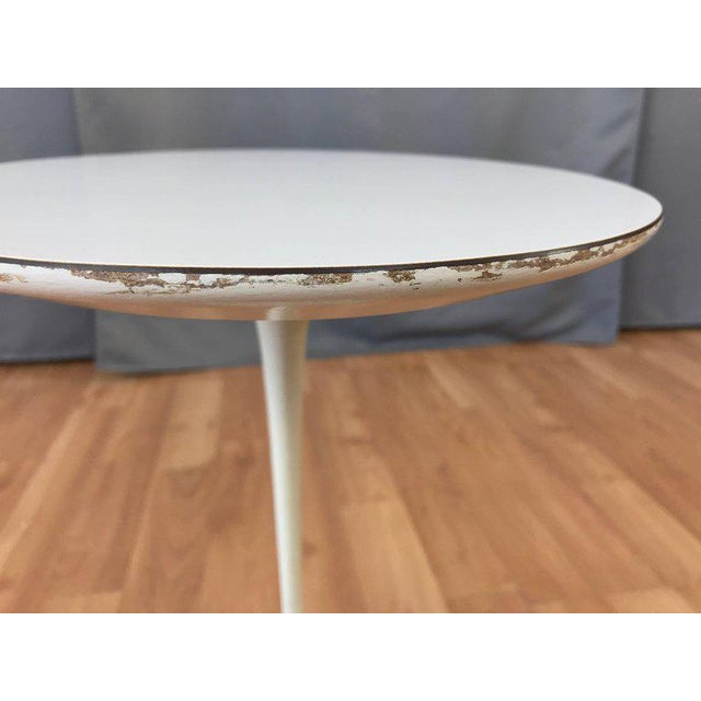 Early Eero Saarinen for Knoll Pedestal Collection Oval Side Table For Sale In San Francisco - Image 6 of 12