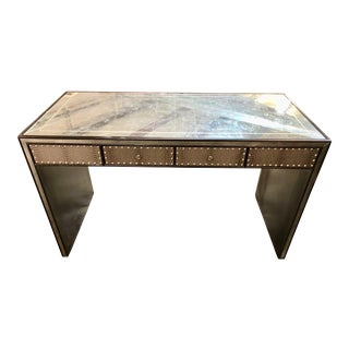 Contemporary Mirrored Writing Desk For Sale