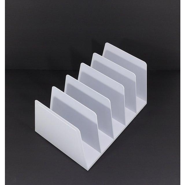 20th Century Modern White Plastic Office Desk File Sorter For Sale - Image 4 of 8