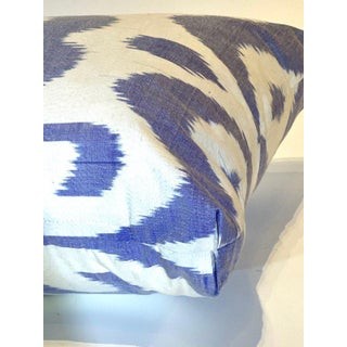 Contemporary Silk Lumbar Pillow. Violet. Preview