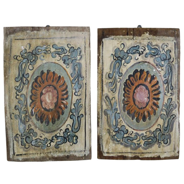 Pair of 19th Century Painted Italian Panels For Sale