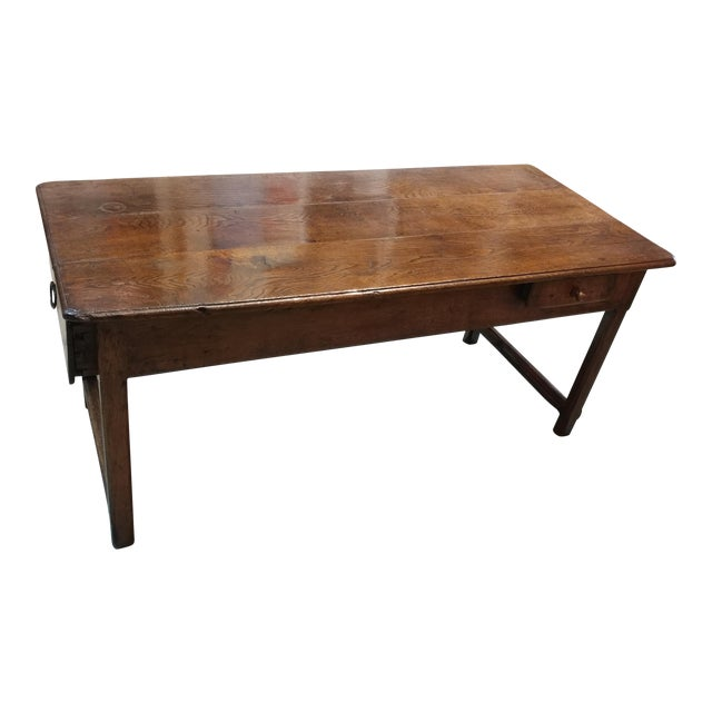 18th c french farm dining table chairish for Table th width
