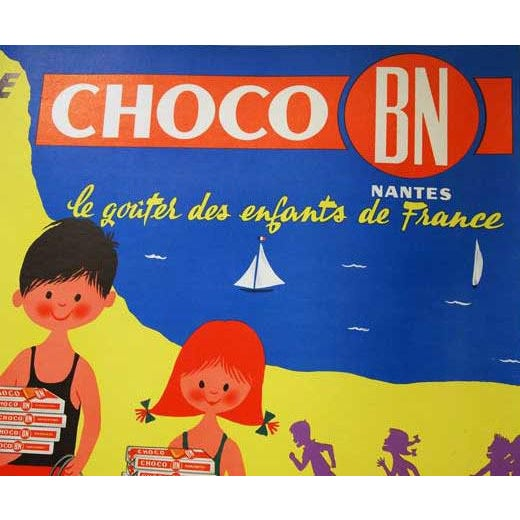 """Original French """"Choco Bn"""" Advertising Poster - Image 2 of 5"""