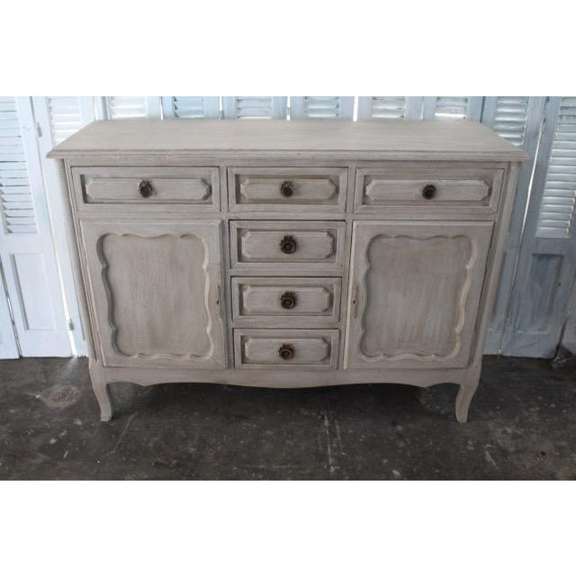 20th Century Shabby Chic French Style Painted Sideboard For Sale - Image 10 of 10