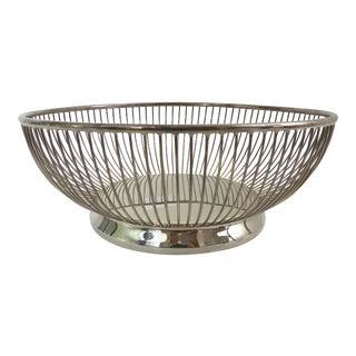 Gorham Wire Silver Plate Bread Basket For Sale