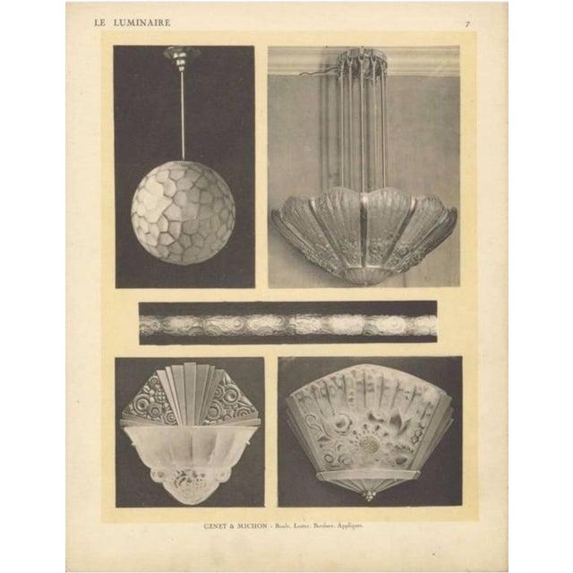 Genet Et Michon French Art Deco Chandelier - Image 9 of 9