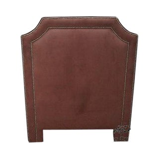 Quality Upholstered Twin Size Headboard W/ Tackhead Trim For Sale