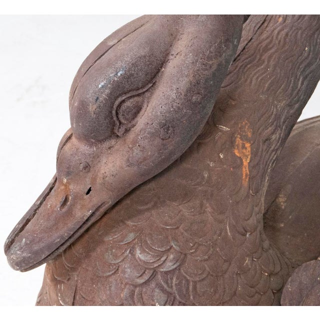Cast Iron 1870s Cast Iron Swans - a Pair For Sale - Image 7 of 8