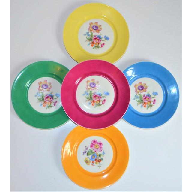 Vintage Richard Ginori Italian Botanical Porcelain Plates - Set of 5 For Sale - Image 11 of 12