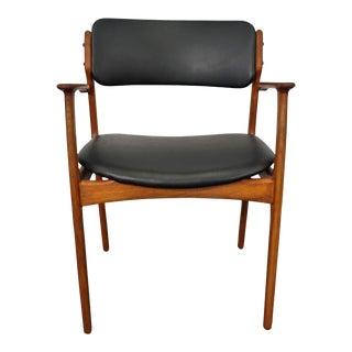 Mid Century Modern Erik Buck Teak Desk Chair - Model 49 For Sale
