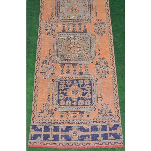 "Distressed Oushak Rug Runner - 2'11"" x 11'1"" - Image 6 of 8"