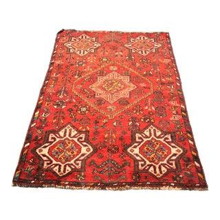 "Vintage Persian Shiraz Small Area Rug - 3'5""x4'11"""