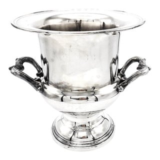 Silver Plate Champagne Cooler For Sale