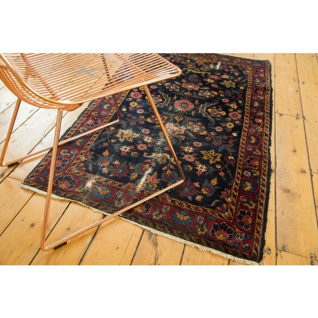 "Old New House Vintage Yezd Rug - 2'11"" X 4'10"" For Sale - Image 4 of 11"