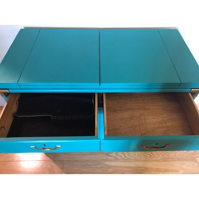 Drexel Furniture Campaign Mid-Century Server or Buffet For Sale In Philadelphia - Image 6 of 8