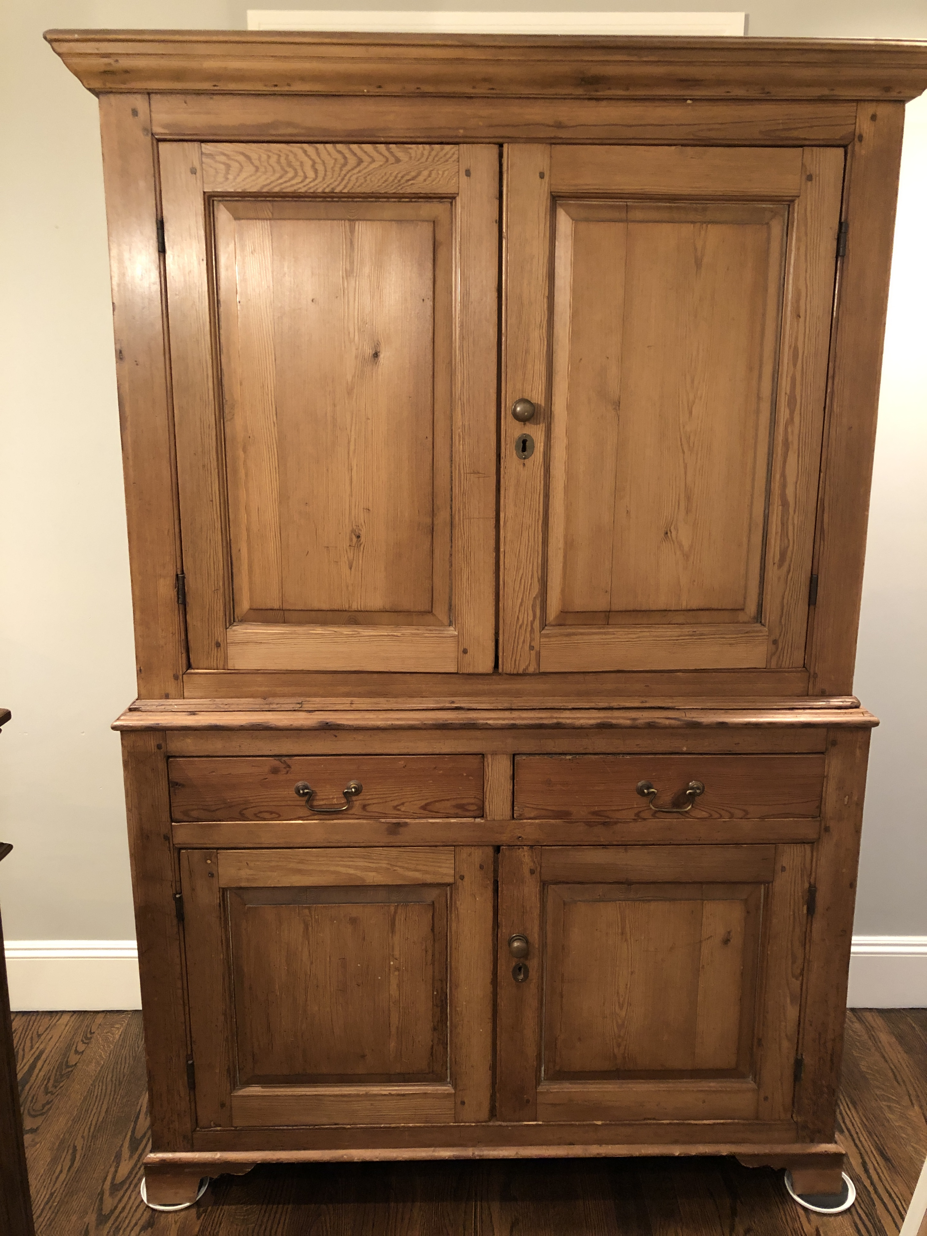 Antique English Pine Hutch For Sale   Image 12 Of 12