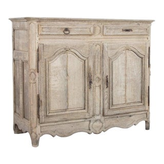 19th Century French Bleached Oak Buffet Cabinet For Sale