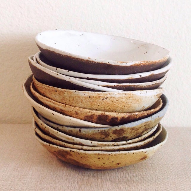 Ceramic Boho Chic Speckled Stoneware Soup Bowl For Sale - Image 7 of 9