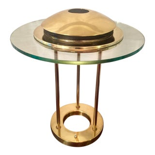 Vintage Robert Sonneman Brass Saturn Lamp For Sale
