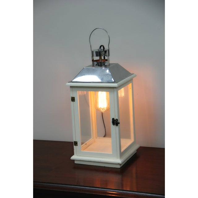 Handmade Electric Lantern Lamp With Edison Bulb - Image 2 of 4